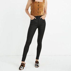 """MADEWELL 10"""" High Rise Coated Skinny Jeans Black"""